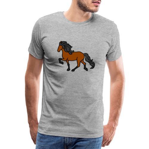 Islandpferd, Brauner, heller - Männer Premium T-Shirt