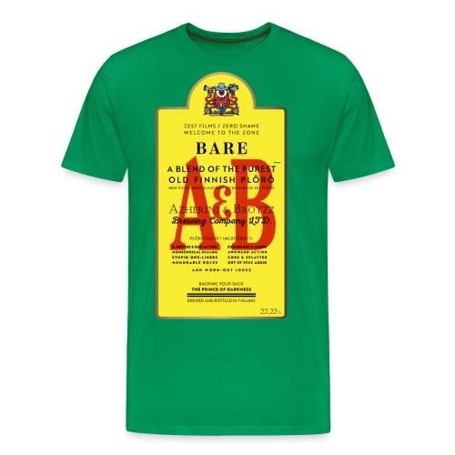 A&B • BOTTLE (2 print: front & back) - Miesten premium t-paita