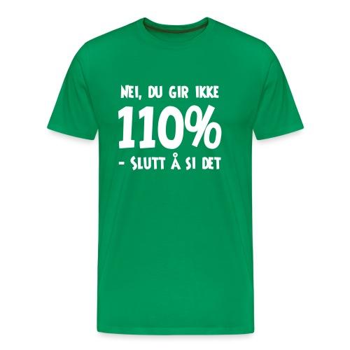 Nei, du gir ikke 110% Slutt å si det