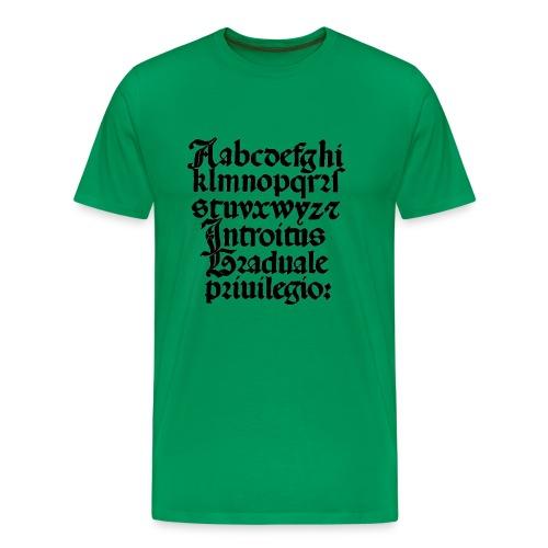 letters - Mannen Premium T-shirt