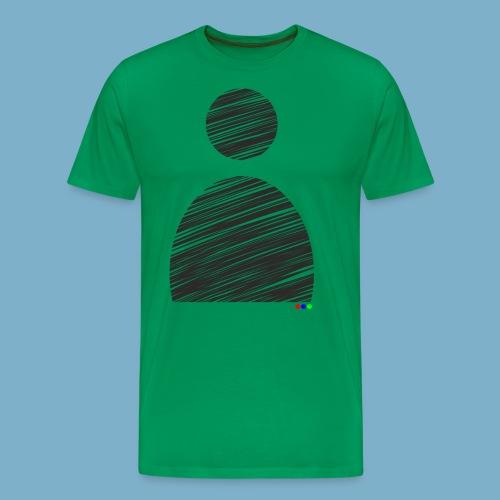 Silhouette Mann - Männer Premium T-Shirt