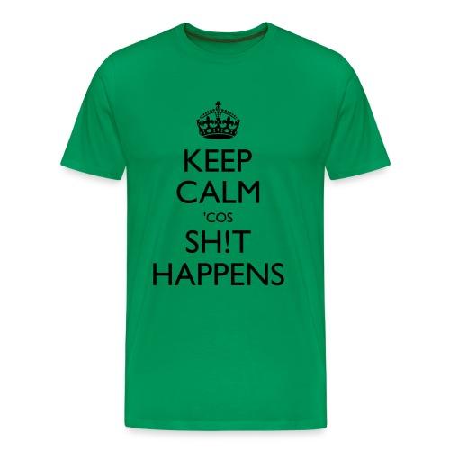 cos shit happens with exclamation mark - Men's Premium T-Shirt