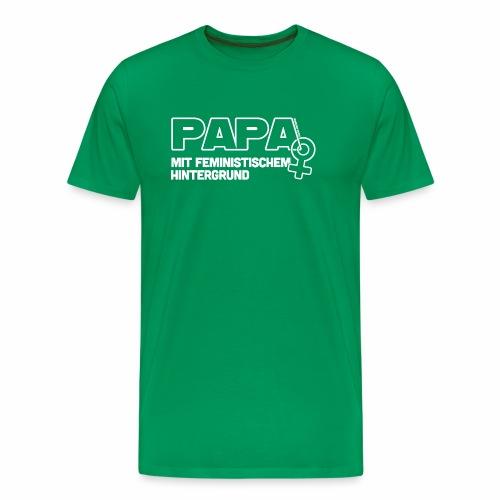 Papa mit feministischem Hintergrund - Männer Premium T-Shirt