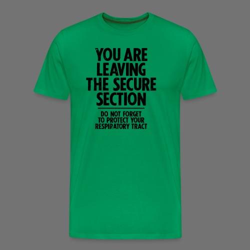 Bezpieczne Sekcja (czarny) - Koszulka męska Premium