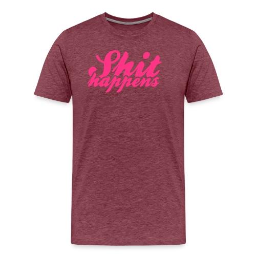 Shit Happens and Politics - Men's Premium T-Shirt