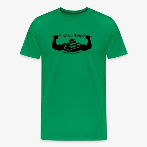 New timetoshape one color black png - Männer Premium T-Shirt