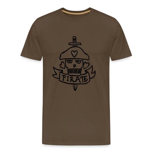 Pirate tattoo - Mannen Premium T-shirt