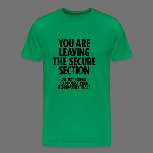 Säker avsnitt (svart) - Premium-T-shirt herr