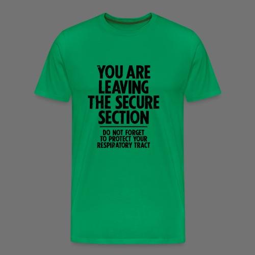 Secure Sectie (zwart) - Mannen Premium T-shirt