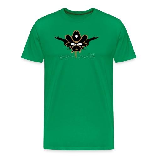 Grafik Sheriff weiße Schrift - Männer Premium T-Shirt