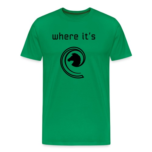 where its at wave style - Men's Premium T-Shirt