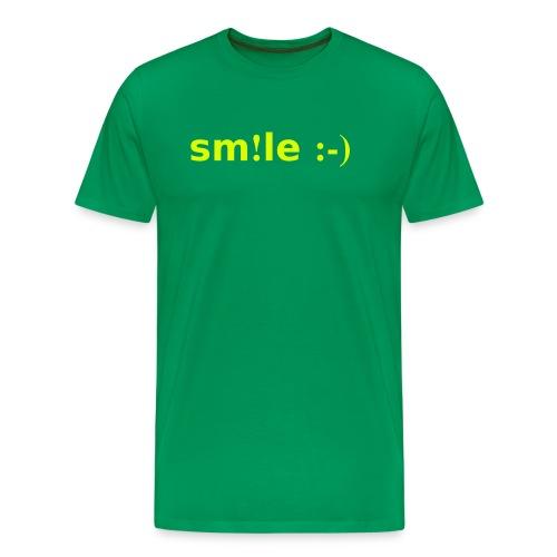 smile - sorridi - Maglietta Premium da uomo