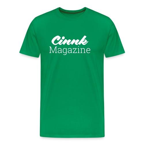 logo-cinnk-magazine-blanc - T-shirt Premium Homme