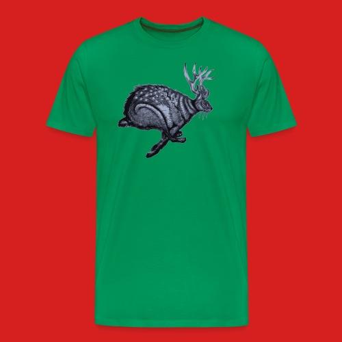 Fabel Hirsch Hase - Männer Premium T-Shirt