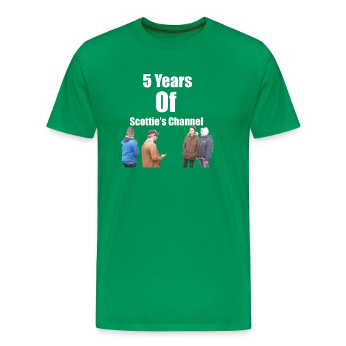 5 Years Of Scottie's Channel - Men's Premium T-Shirt