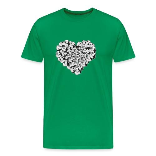 heart for art street love - Herre premium T-shirt