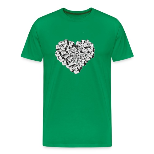 heart for art street love - Herre premium T-shirt