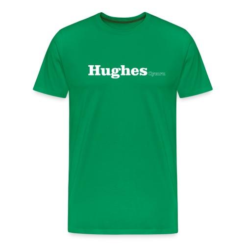 hughes cymru white - Men's Premium T-Shirt