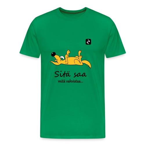 sita saa mita vahvistaa s - Miesten premium t-paita