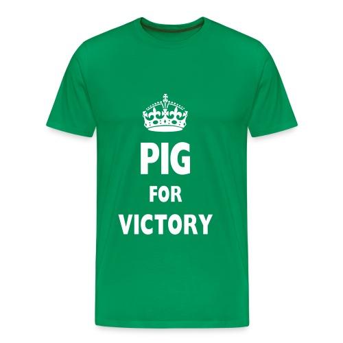pigforvictory - Men's Premium T-Shirt