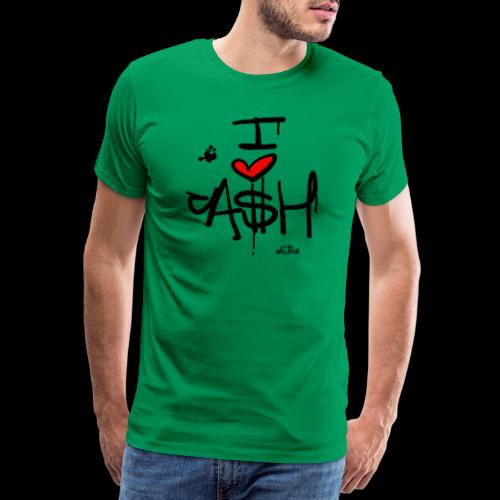 I love Cash - Mannen Premium T-shirt