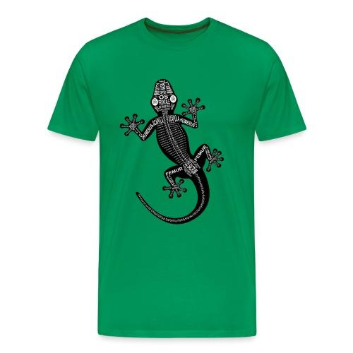 Gecko-Skelett - Herre premium T-shirt