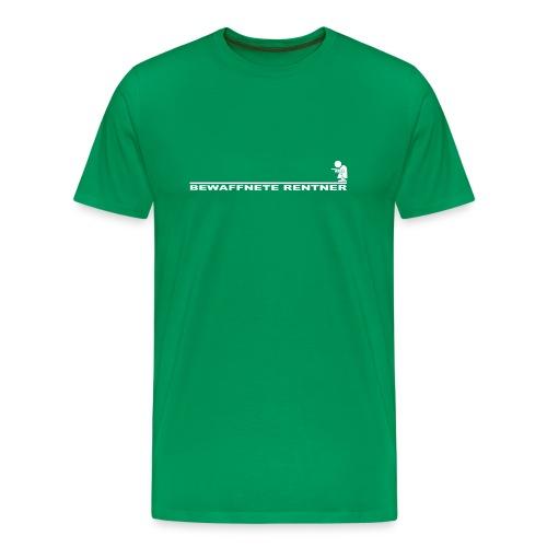 Rentner mit Linie weiß png - Männer Premium T-Shirt