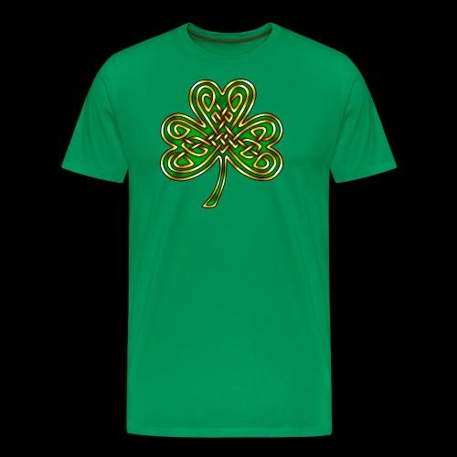 Celtic Knotwork Shamrock - Men's Premium T-Shirt