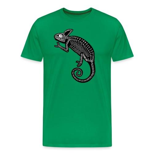 Chameleon Skeleton - Herre premium T-shirt