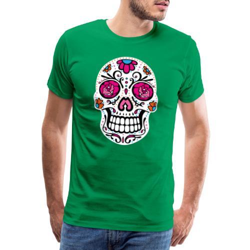 Sugar Skull Day Of The Dead Totenschädel - Männer Premium T-Shirt