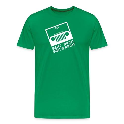 Jeep der Weg white transparent - Männer Premium T-Shirt