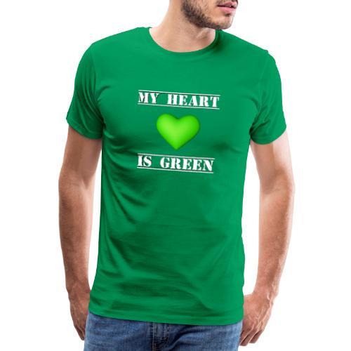 My Heart is Green - T-shirt Premium Homme