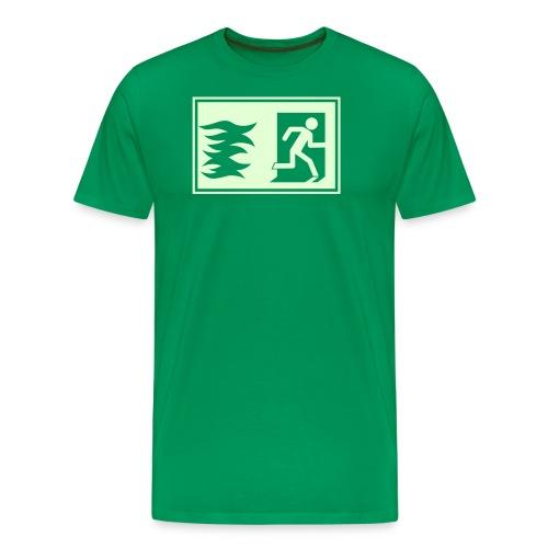 Notausgang / Feueralarm Symbol - Männer Premium T-Shirt