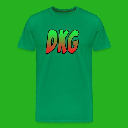 Red and black DKG Snapback - Mannen Premium T-shirt
