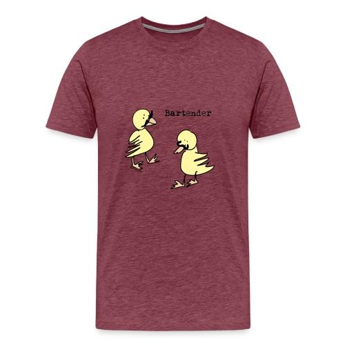bartender png - Premium T-skjorte for menn