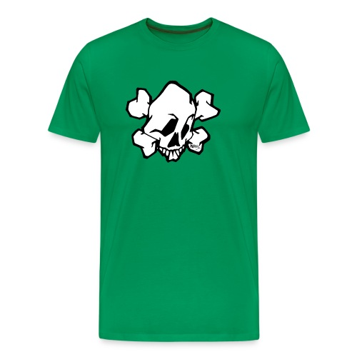 skull white ver01 fresh 86 - Herre premium T-shirt