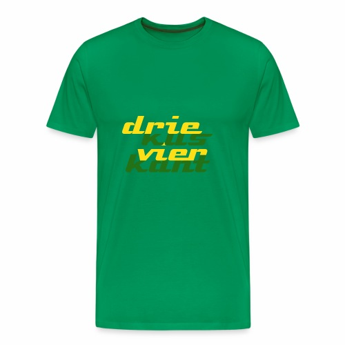 Driekus Vierkant - Mannen Premium T-shirt