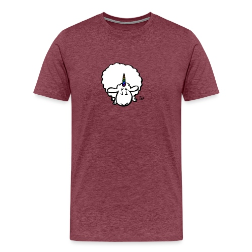 Ewenicorn - it's a rainbow unicorn sheep! - Men's Premium T-Shirt
