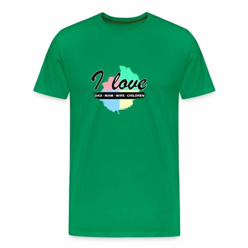 I love dad mom wife children - T-shirt Premium Homme