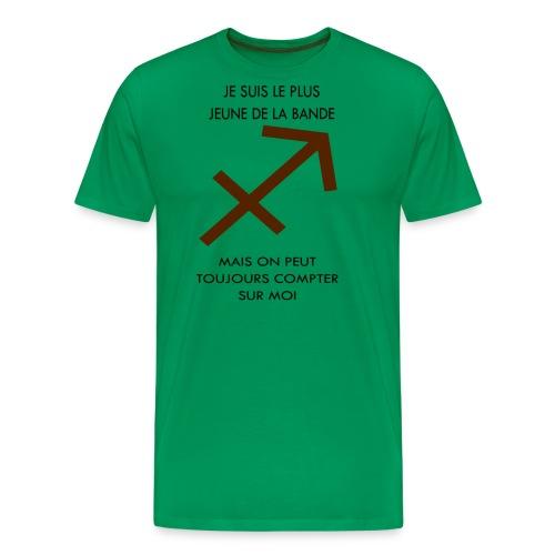 Sagittaire - je suis le plus jeune de la bande mai - T-shirt Premium Homme