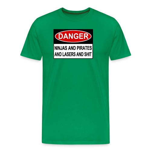 Ninjas Pirates and Lasers - Männer Premium T-Shirt