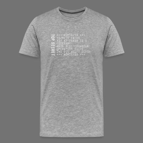 Top Secret (valkoinen) - Miesten premium t-paita