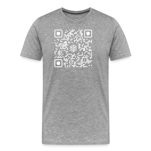 QR Safenetforum White - Men's Premium T-Shirt