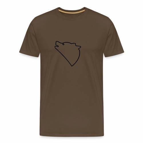 Wolf baul logo - Mannen Premium T-shirt