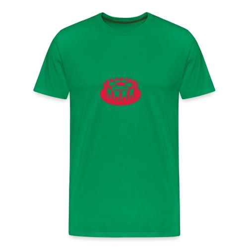 Rundes Leder - Männer Premium T-Shirt