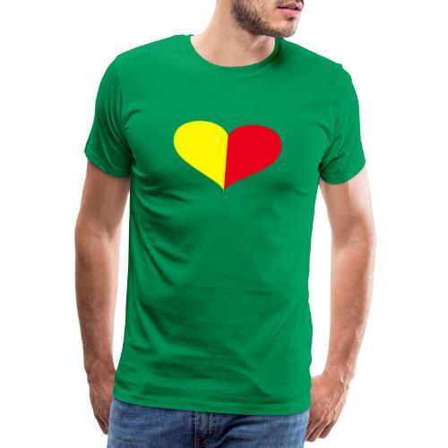 cuore giallorosso pieno - Maglietta Premium da uomo