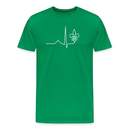 Scouts Heartbeat - Men's Premium T-Shirt