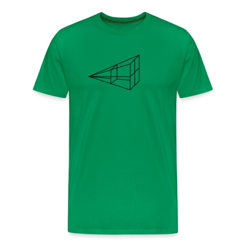 inverse kvadrat tegning - Premium T-skjorte for menn
