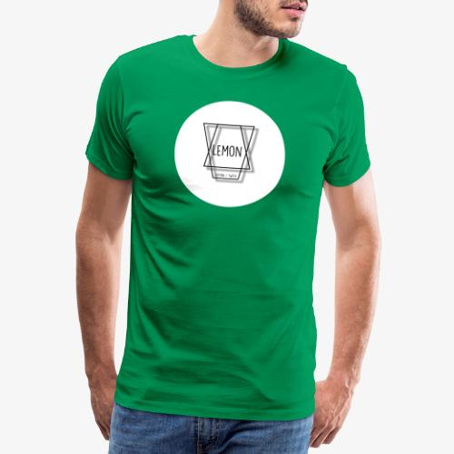 Minimalist Lemon Logo With Background - Premium-T-shirt herr