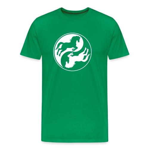 Vorschau: Horse Ying Yang - Männer Premium T-Shirt